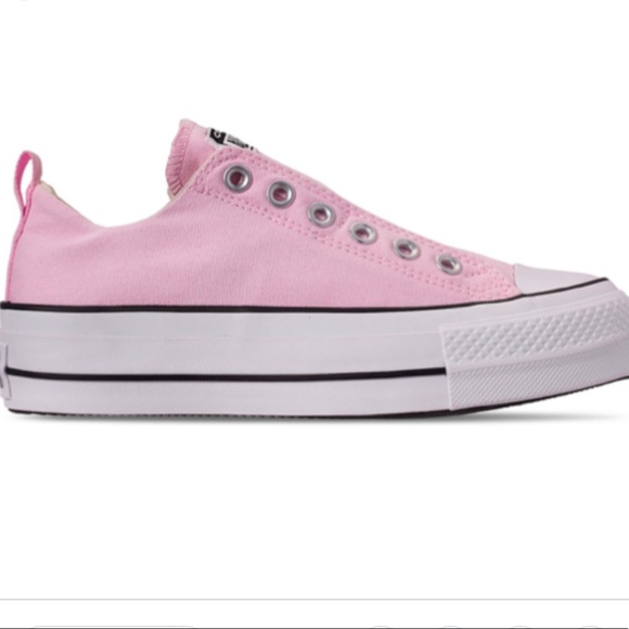 best loved best authentic high fashion NWT pink Converse platform sneakers NWT